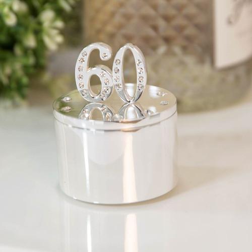 Personalised 60th Birthday Milestone Jewellery/Trinket box