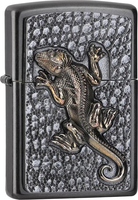 Personalised Gecko Grey Dusk Genuine Zippo Lighter