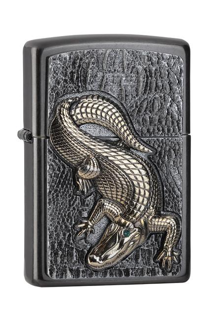 Personalised Crocodile Grey Dusk Genuine Zippo Lighter