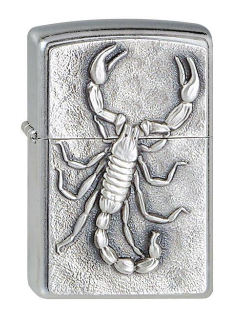 Personalised Scorpion Street Chrome Genuine Zippo Lighter