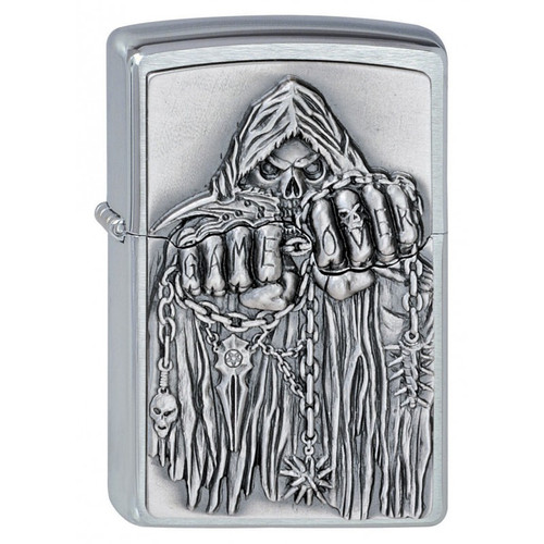 Personalised Game Over Brushed Chrome Genuine Zippo Lighter