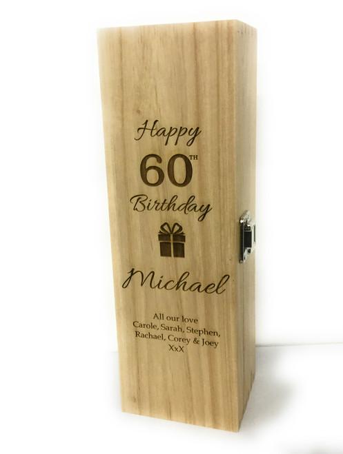 Personalised Single Wine Box (Bestseller) - Birthday Design