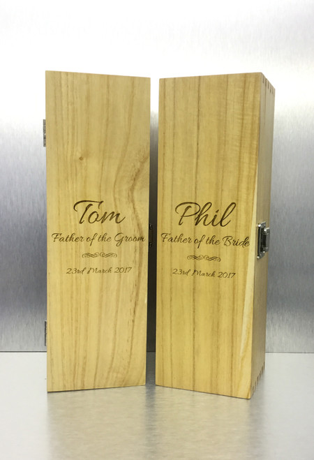 Personalised Single Wine Box (Bestseller) Father of the Groom/Bride Design