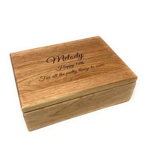Personalised Oak Trinket & Jewellery Box