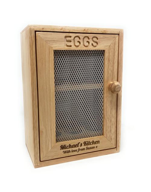 Personalised Wooden Egg  Cabinet (Best Seller)