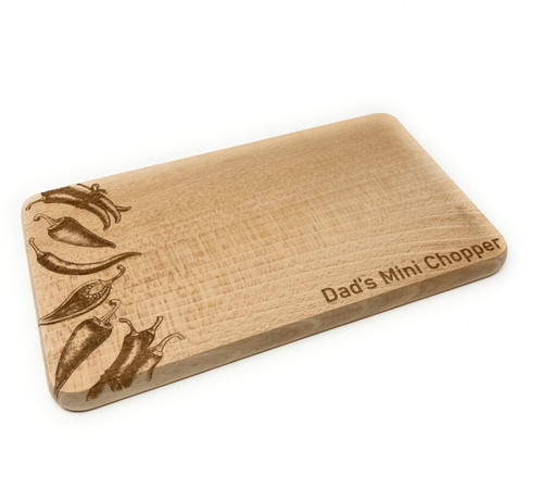 Personalised Compact Chopping Serving Board - Chilies Design