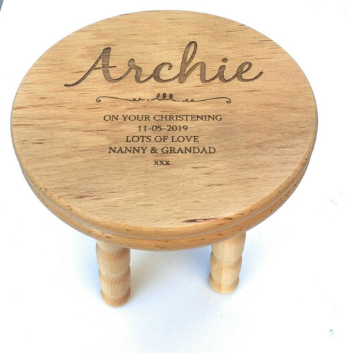 Personalised Wooden Childrens Stool