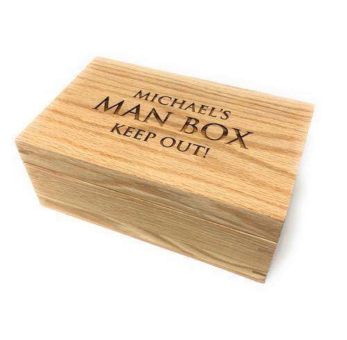 Personalised Man Stuff  Wooden Box