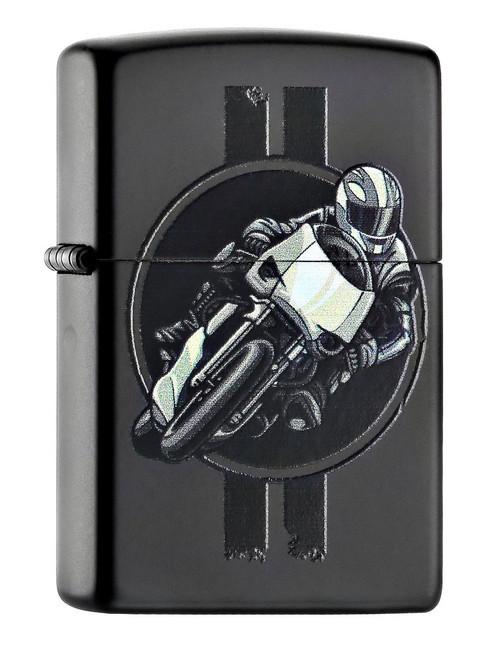 Personalised Motorcycle Black Matte Zippo Lighter