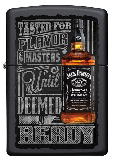 Personalised Jack Daniels Black Matte Zippo Lighter