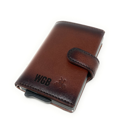 Personalised RFID Slim Pop Out Ejector Card Luxury Card Wallet
