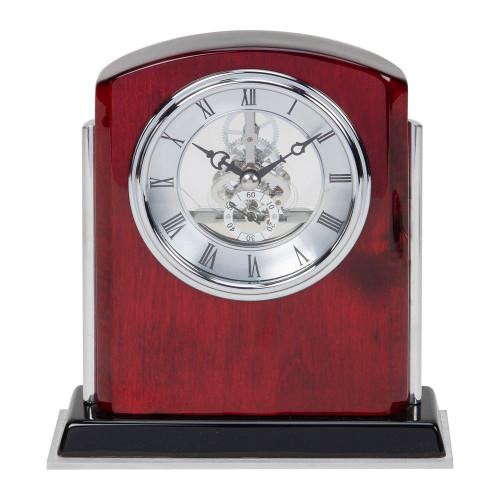 Personalised Wooden Skeleton Mantel Clock