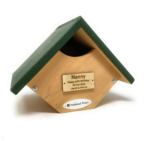 Personalised National Trust Robin & Wren Nesting Box