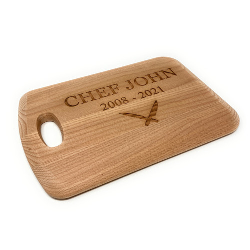 Personalised Beech Handled Chopping  Board - Large - Kitchen Knives Design