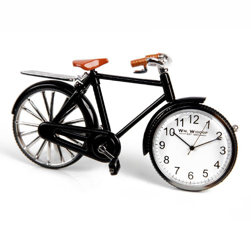 Pedal Bike Miniature Clock - Birthday Collectable Anniversary Novelty Cycling Gift