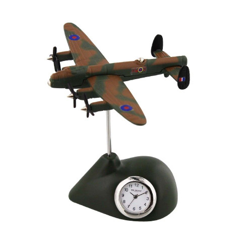 RAF Lancaster Plane Miniature Clock - Birthday Collectable Anniversary Novelty Train Gift