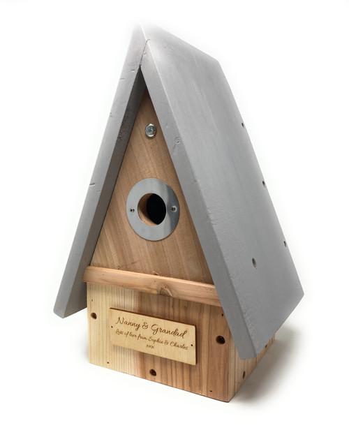 Personalised Wildlife Bird House Nesting Box
