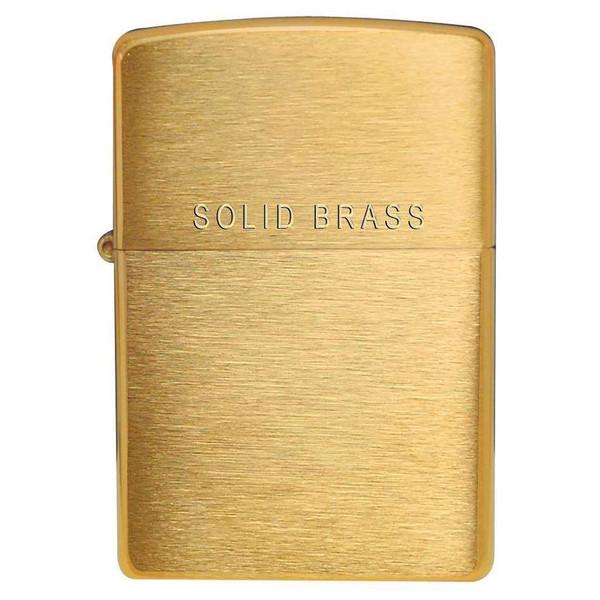 Personalised 204 Brushed Brass Genuine Zippo Lighter