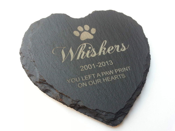 Personalised Pet Memorial Slate Plaque Marker
