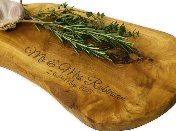 Personalised Olive Wood Chopping  Board  - 35cm (BestSeller)