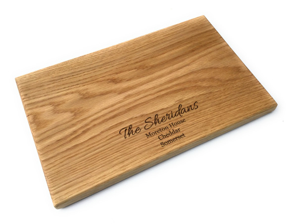 Personalised Scottish Oak Chopping Board