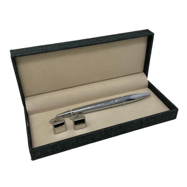 Personalised Autograph Ballpoint Pen & Cufflink Gift Set - Ideal Best Man/Usher Gift (Best Seller)