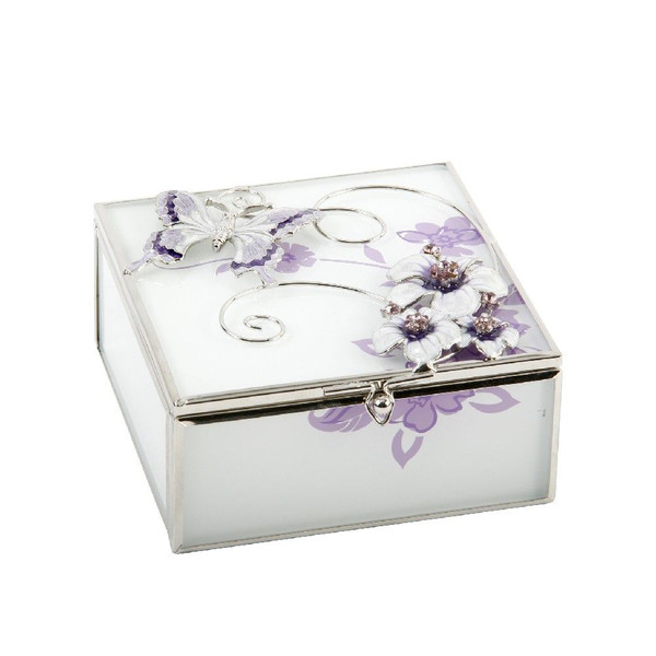 Personalised Glass & Wire Butterfly Trinket Box (Best Seller)