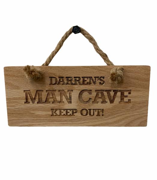 Personalised Deluxe Oak Wooden Hanging Rectangular Plaque