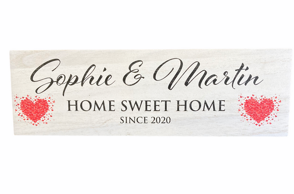 Personalised Wooden Couples Moving in Housewarming Keepsake Plaque