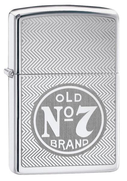 Personalised Jack Daniels Polished Chrome Zippo Lighter