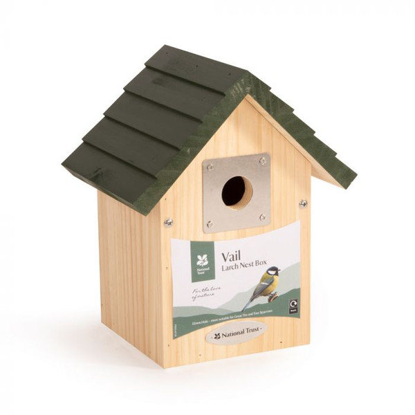 Personalised National Trust Vail Larch Bird  Nesting House -  Best Seller