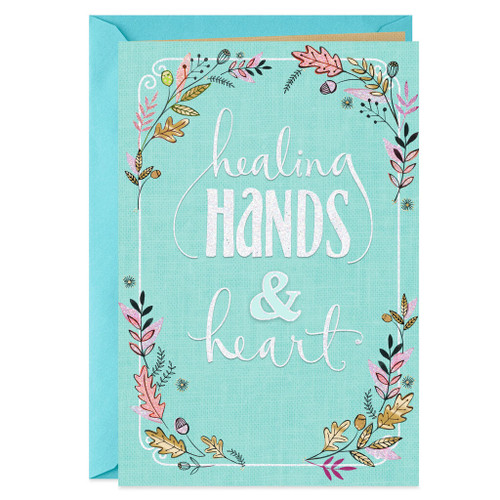 Healing Hands and Heart Thank You Card