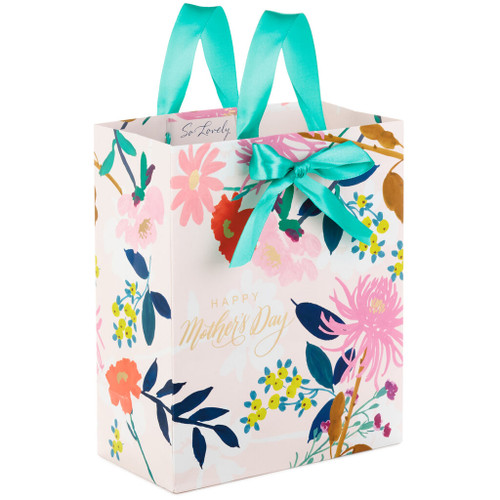 "9.6"" Floral Happy Mother's Day Gift Bag"