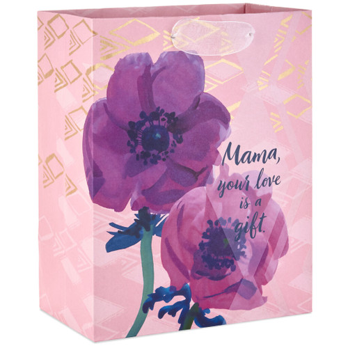 """Mama Your Love Is a Gift Medium Gift Bag, 9.6"""""""