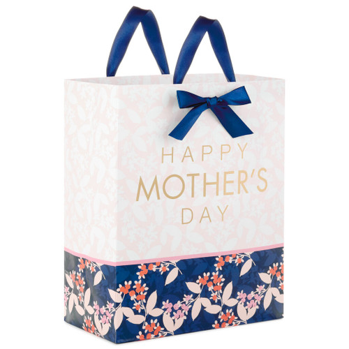 "13"" Berry Print and Damask Mother's Day Gift Bag"