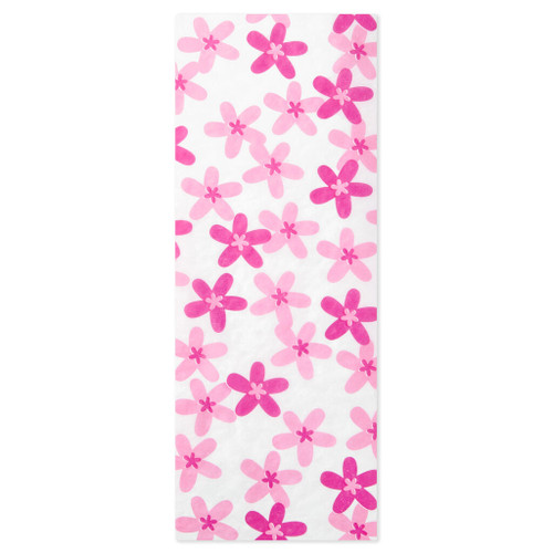 Plumeria Scented Pink Flowers Tissue Paper, 4 sheets