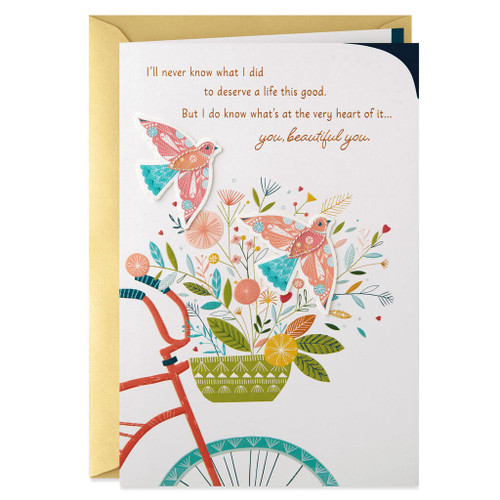 Blooming Bicycle Basket Mother's Day Card for Wife