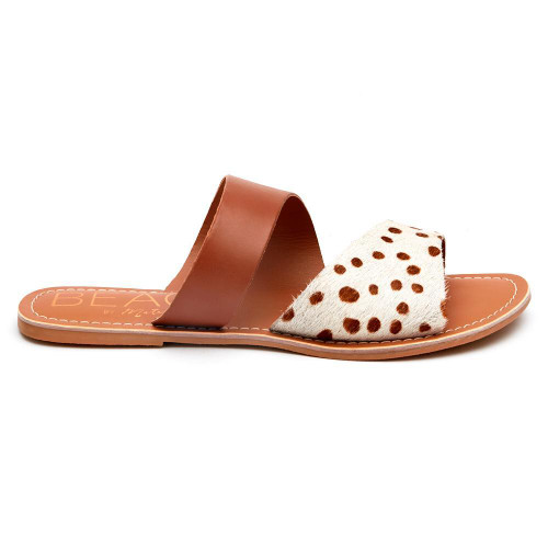 Coastal Sandal in Brown Spot