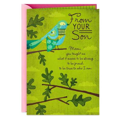 You Made Me Strong Mother's Day Card From Son