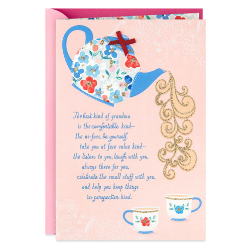 Day Spring Tea Time Religious Mother's Day Card for Grandmother