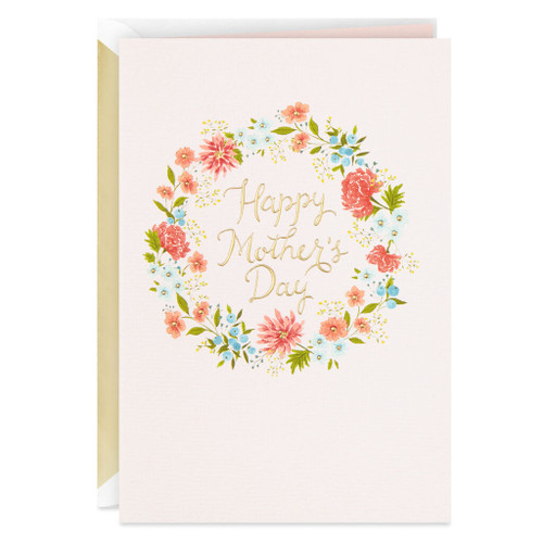 All Kinds of Beautiful Flower Wreath Mother's Day Card
