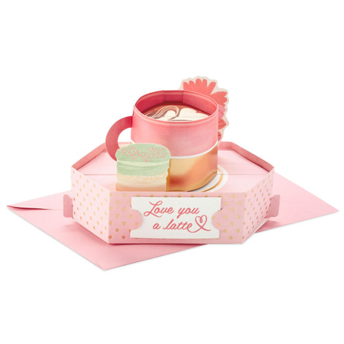 Love You a Latte Mini 3D Pop-Up Mother's Day Card