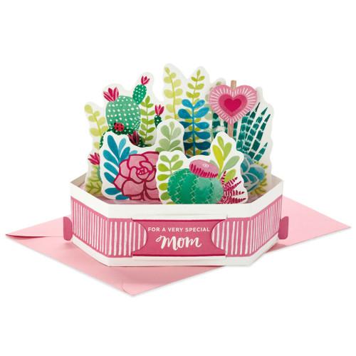 Succulent Garden Mini 3D Pop-Up Mother's Day Card