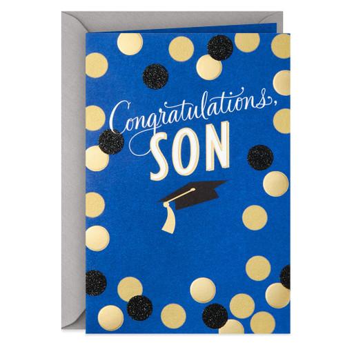 Gold Dot Graduation Card for Son
