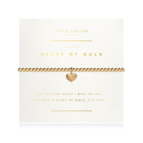 Facetted A Little - Heart Of Gold - Gold- 17.5cm stretch