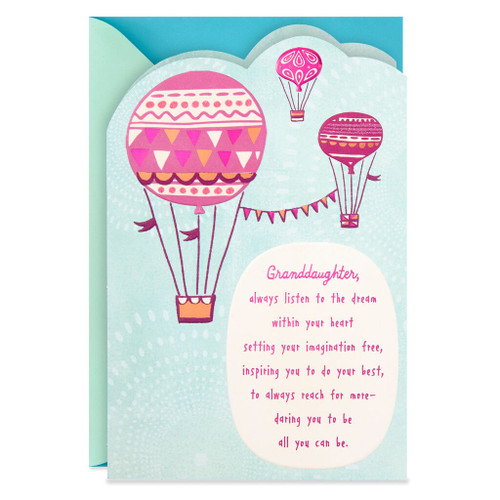 Hot Air Balloons Granddaughter Graduation Card