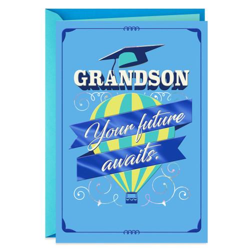 Hot Air Balloon Graduation Card for Grandson