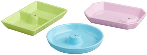 Melamine Dainty Dishes - 3 Piece Set