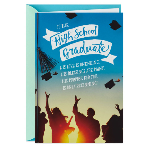 All Things Are Possible Religious Graduation Card for High School Graduate