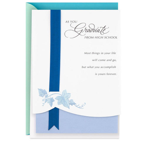 Receiving Your Diploma Graduation Card for High School Graduate
